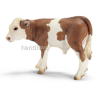 Schleich 13642 Simmental Calf Model Farm Animal Toy Cow Figurine - NIP