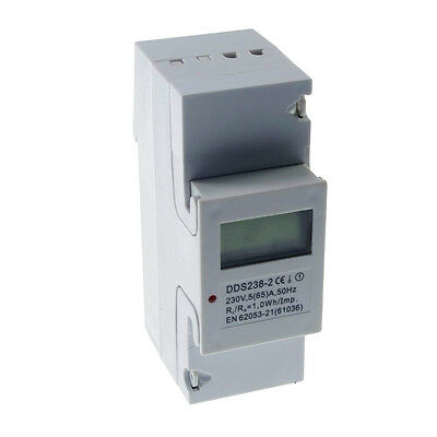 (1)5-65A 230VAC 50Hz Single Phase DIN-rail Kilowatt LED Hour kwh Meter CE Proved