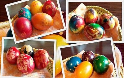 6 colours Paint Color Dip Decorate Dye Dyeing EASTER EGG - UK seller