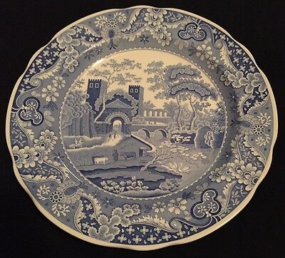 Spode Blue Room Collection Traditions Series Castle Dinner Plate