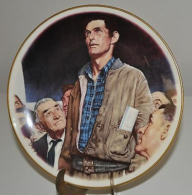 Norman Rockwell Plates Lot of 3 Collectibles
