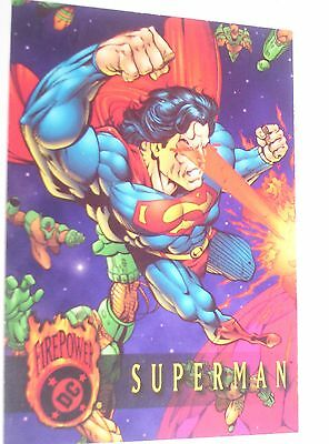 1996 DC Firepower Promo Card Superman Maximum Firepower Outburst Embossed!!!