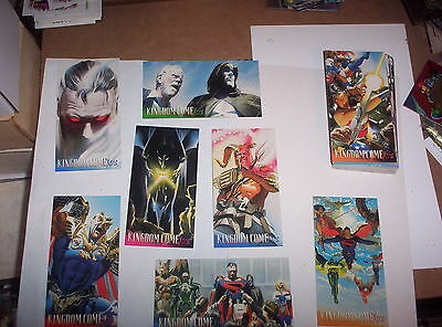1996 SUPERMAN KINGDOM COME XTRA SKYBOX ALEX ROSS WIDEVISION BASE CARD SET + FREE