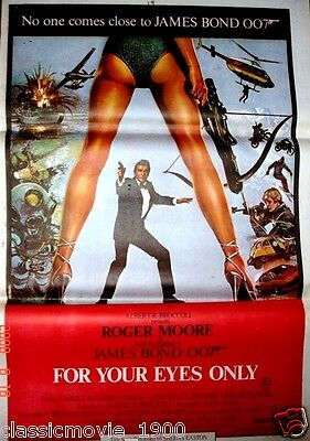 FOR YOUR EYES ONLY(1981)  007JAMES BOND ROGER MOORE POSTER INDIA