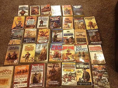 Westeren paperback lot, Jake Logan , Lewis Patten and more , 34 books, westerns