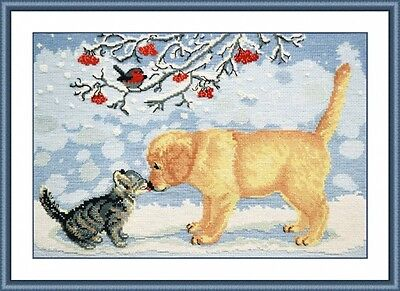 OVEN COUNTED CROSS STITCH KIT - LET'S BE FRIENDS