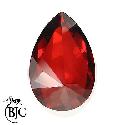 BJC® Loose Natural Garnet Pear Cut Red - Brown - Pink Great Colours & Cuts