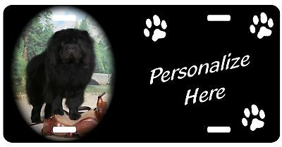 Chow Chow, black    Personalized Pet License Plate
