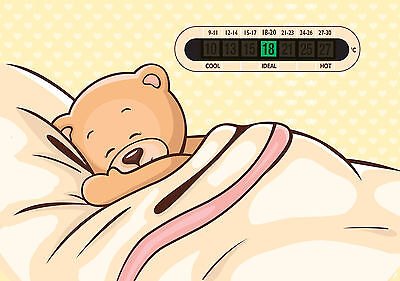 A5 Sleeping Teddy Nursery, Baby and Childrens Room Thermometers