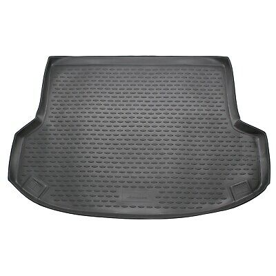 Hyundai ix35 10-15 Rubber Boot Liner Tailored Fitted Black Floor Mat Protector