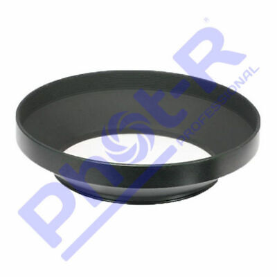 Phot-R 49mm PRO Screw-On Mount Wide-Angle Metal Lens Hood for Canon Nikon Sony