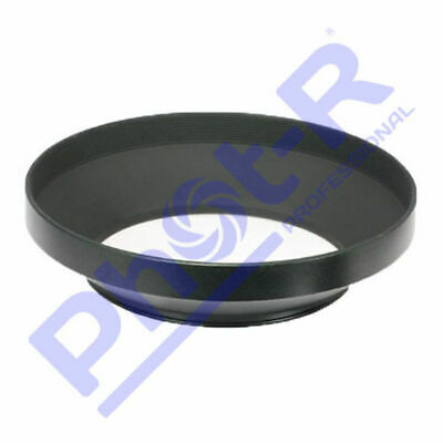 Phot-R 52mm PRO Screw-On Mount Wide-Angle Metal Lens Hood for Canon Nikon Sony