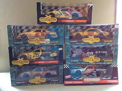 Lot of 7 NEW ERTL American Muscle Nascar 1:18 1/18 Scale Die Cast Cars