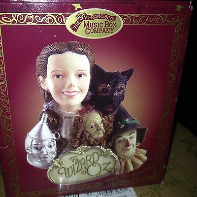 Wizard of Oz Music Box San Francisco Musical Over the Rainbow Ornament - New!