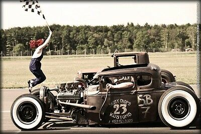 Hot Rod CAR Silk Wall Poster Movie Star Pictures WALL DECAL HOME DECOR