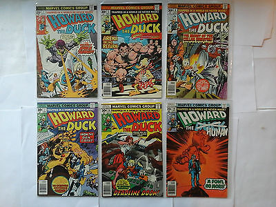 VINTAGE LOT OF MARVEL COMIC BOOK HOWARD THE DUCK  NO RESERVE