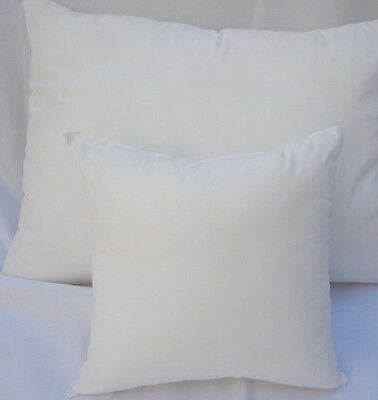 Pillow Insert Form Cotton -Square Oblong Rectangle Euro- ALL SIZES!! Made in USA