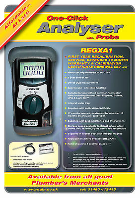 Regin Regxa1 One- Click Ratio Analyser Kit-Comes With 12Months Calibration *new*
