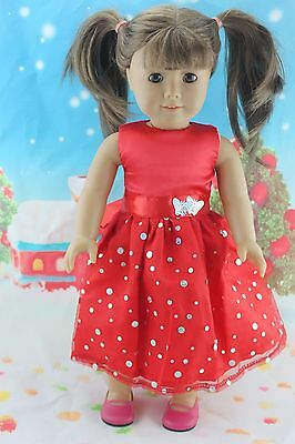 "2015 Doll Clothes fits 18"" American Girl Handmade Hot Summer Dress X18"