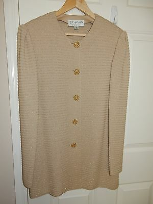 St. Johns Womens 3-Piece Knit Suit - Jacket, Skirt and Tank Top - Size 12