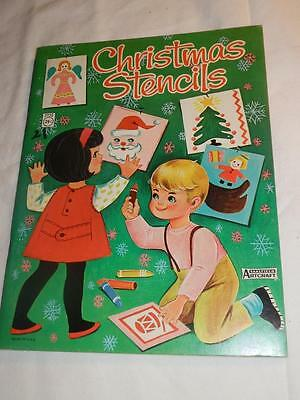1960's Christmas Stencils by Saalfield Artcraft new