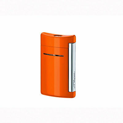 S.T. Dupont MiniJet Torch Flame Lighter, Spicy Orange, # 10032, New In Box