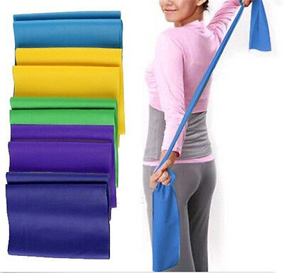 Hot Resistance Band Belt Yoga Pilates Home Gym Fitness Exercise Workout Stretch