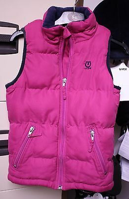 """Girls Quilted Gilet in Pink  by 'Tagg'  Chest 28"""" Age 5"""