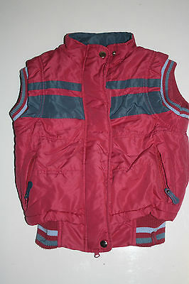 Immaculate Cuddly Ponies Gilet in Pink and Navy 108cm Age 4