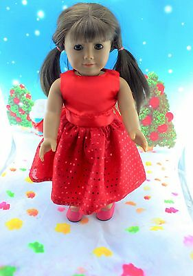 "2014 New Doll Clothes fits 18"" American Girl Handmade Hot Summer Dress X63"