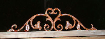 TWO SMALL FRENCH CURLS Iron Cast  Wrought Garden Fence