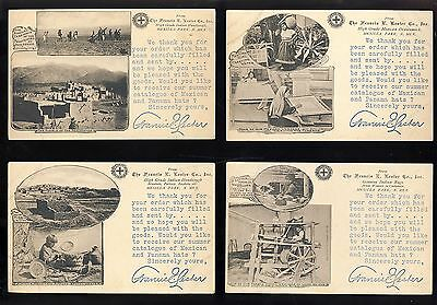 lot of 4 albertype postcard Indian Mexican rug basket Francis Lester New Mexico