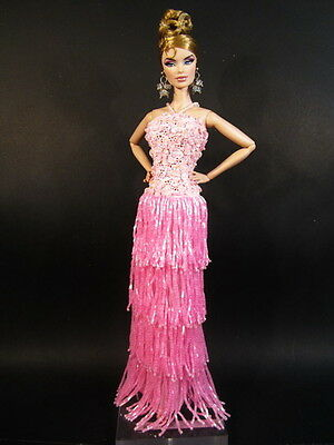 Pink Flapper Silkstone Barbie Fashion Royalty Candi Evening Dress Outfit Gown FR