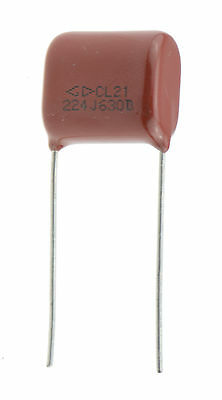 10 x Polyester Film Capacitor - Wide Range of Values - 100V / 250V / 400V / 630V