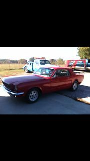 Ford : Mustang Chrome 1966 ford mustang 289 v 8 red coupe