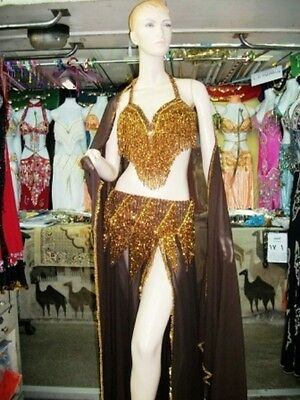 Belly Dance Professional Costume Dress New  Bra + Belt +Skirt+Veil Made To Fit F