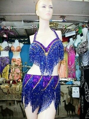 Belly Dance Professional Costume Dress New Bra And Belt Made To Fit Handmade I