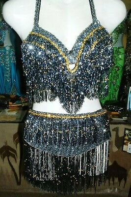 Belly Dance Professional Costume Dress New Bra And Belt Made To Fit Handmade T