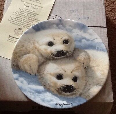 BABY SEALS MIKE JACKSON ROYAL GRAFTON HERITAGE COLLECTION PLATE
