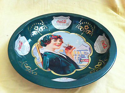 Vintage 1995 Coca Cola Tin Serving Dish/ Bowl/ Tray - The Drink Of All The Year