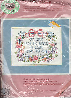 To Love and Be Loved counted cross stitch kit From The Heart