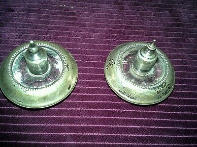 Frank M. Whiting Vintage Sterling Silver & glass table top lighter set of 2