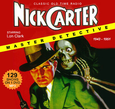 Nick Carter, Master Detective - 129 OTR Shows on DVD-R Old Time Radio MP3s