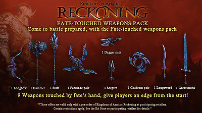 XBOX 360 Kingdoms of Amalur: Reckoning Fate-Touched Weapons Pack KOA DLC CODE