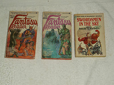 vintage-fantasy-sci fi-mixed-lot of 3-1968-paperbacks-GD