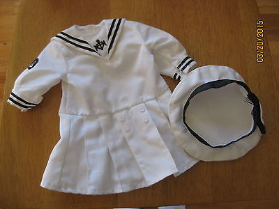 American Girl Doll Pleasant Company Samantha Middy Dress Outfit w Hat GUC