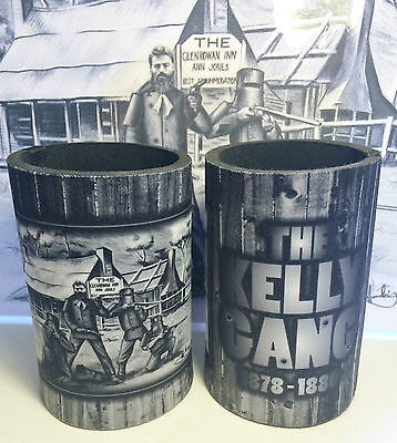 "2 Awesome Ned Kelly ""kelly Gang"" Stubby Holder, Man Cave, Cooler, Outlaws. Beers"