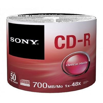 Sony CD-R 48X 80 min 700MB (50 Pack)