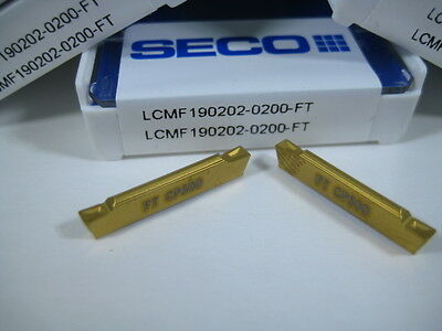 Lot ( 5 ) Seco Lcmf190202 Parting Cut Off Lathe Turning Carbide Inserts Tools