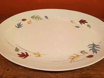 "Large 16 3/8"" Oval Platter Franciscan AUTUMN LEAVES Mid Century Dinnerware EUC"